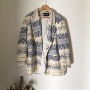 Vintage patterned blazer coat